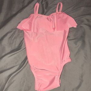 Old Navy 1 piece pink bathing suit with ruffle